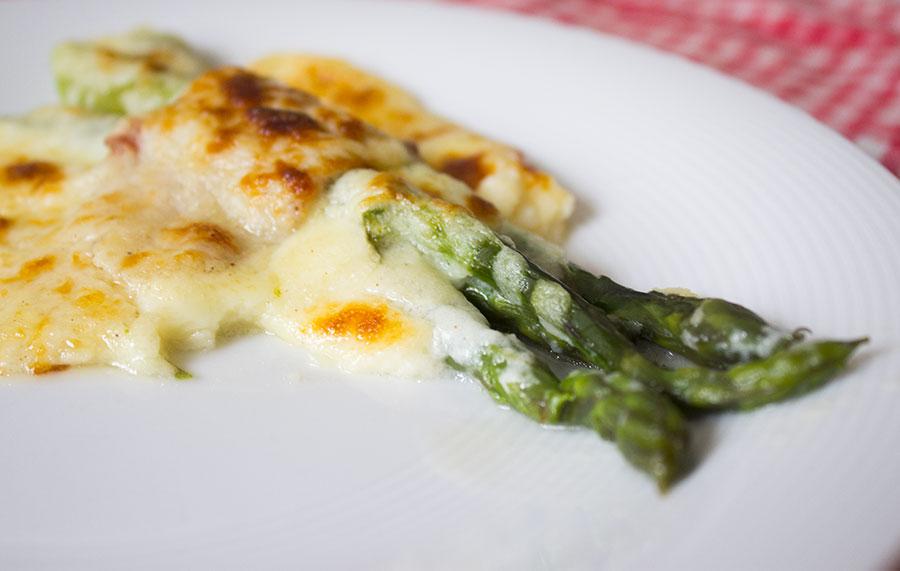 asparagi prosciutto besciamella e pecorino - #cucinoconrovajo